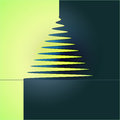 Simple Xmas Tree Yellow Blue Vector Stock Image - 28112771