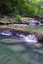 Deep Forest Waterfall (Erawan Waterfall) Royalty Free Stock Images - 28113849