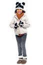 Little Fashionable Girl In Warm Clothes Stock Photos - 28116543
