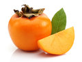 Slice Persimmon And Persimmon Royalty Free Stock Image - 28144986