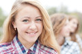 Young Happy Teen Girl With Friends Stock Photo - 28148870