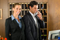 Reception In Hotel - Man And Woman Stock Images - 28158554