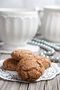Cup Of Coffe Or Tea And Cookies Stock Photos - 28162503