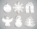 Christmas Icon Cut From Paper Stock Images - 28164674