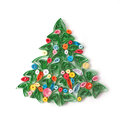 Paper Christmas Tree, Hand Made. Royalty Free Stock Photos - 28165588