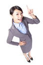 Business Woman Finger Pointing Up Stock Images - 28170114