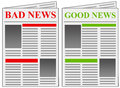 Good News Bad News Royalty Free Stock Photos - 28179368