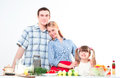 Portrait Of Family Cook Together Stock Photo - 28179510