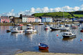 Boats In Aberaeron Harbour, Ceredigion, Wales. Stock Images - 28186824