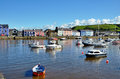 Boats Moored In Aberaeron Harbour, Wales. Royalty Free Stock Images - 28190649