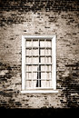 Old Window And Brick Wall On Historic Building Royalty Free Stock Image - 28192926