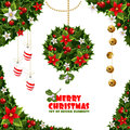 Christmas Design Elements From Holly And Mistletoe Royalty Free Stock Image - 28194286