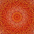 Ornamental Round Hearts Pattern In Indian Style Stock Photos - 28194913