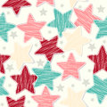 Seamless Retro Texture With Stars Royalty Free Stock Images - 28195109