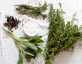 Bunch Of Herbs For Cooking Royalty Free Stock Images - 28196309