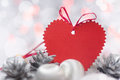 Christmas Card With Heart Stock Images - 28199914