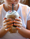 Girl Drinking Coffee Stock Image - 2824891