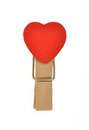 Heart Shape Wooden Clip Stock Images - 28206124
