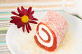 Red Roll Sweet Dessert, Background Stock Image - 28206631