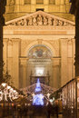 Decorated Street At Christmastime For The Basilica Stock Images - 28213284