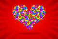 Funky Heart Royalty Free Stock Images - 28218209