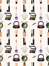 Seamless Makeup Pattern Royalty Free Stock Images - 28244009