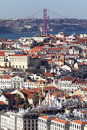 Vertical View Of Lisbon Royalty Free Stock Image - 28248716