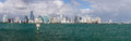 View Of Miami Skyline With Manatee Sign Royalty Free Stock Photo - 28256975