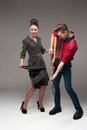 Young Dancing Retro Couple Royalty Free Stock Image - 28258776