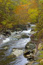 Mountain River With Fall Colors Royalty Free Stock Photo - 28261245