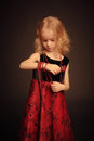 Little Girl With Beads Stock Image - 28267971