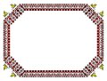 Romanian Traditional Frame - Cdr Format Royalty Free Stock Images - 28269429