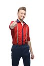 Cheerful Retro Man Showing Ok Royalty Free Stock Images - 28269669