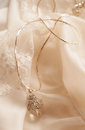 Elegant Silver Necklace With Rock Crystal Royalty Free Stock Photos - 28281948