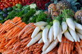 Healthy Food Display On Traditional Market Stock Photo - 28290400