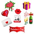 Set For Valentines Day Royalty Free Stock Images - 28292169