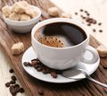 Cup Of Coffee With Brown Sugar. Stock Image - 28292891