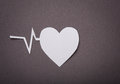 Medical Background, Paper Cut Of Heart And Pulse Graph Stock Photos - 28304613
