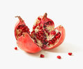 Pomegranate On A White Background With Grains Royalty Free Stock Image - 28304896