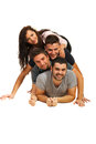 Friends Lying On Top Of Each Other Stock Images - 28313674