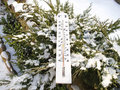 Thermometer In The Snow Royalty Free Stock Photos - 28314258