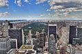 New York City Manhattan Midtown Aerial Panorama View With Skyscr Stock Photos - 28318593