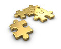 Gold Puzzle Stock Images - 28323444