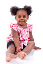 Cute Little African American Girl Laughing Stock Image - 28324881