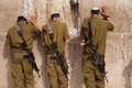 Israeli Soldiers At Jerusalem S Western Wall Stock Photos - 28331083