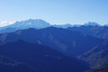 Panorama Of Western Alps And Northern Italy Stock Photography - 28333992