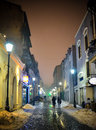 A Bucharest S Street By Night Stock Photography - 28334492