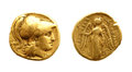 Ancient Gold Coin Royalty Free Stock Photography - 28336157