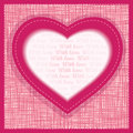 Vector Greeting Card Valentines Day Royalty Free Stock Image - 28336606
