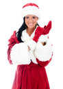 Young Woman In Santa Clause Costume. Stock Photography - 28356132